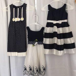 Three girls dresses